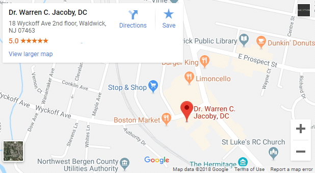 Map of Ridgewood Chiropractors